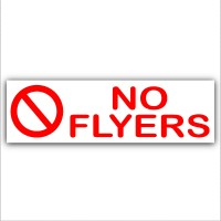 No Flyers- Letterbox Warning House Sticker-Self Adhesive Vinyl Door Notice Sign