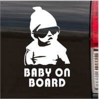 Platinum Place-EXTERNAL Design 2-Cool Baby on Board Carlos Hangover Funny Joke Novelty Car Bumper/External Window Sticker Decal - For Any Car VW Citroen Golf Ford BMW White-Excellent for Tinted Windows or Bodywork-Laptop