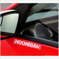 2 x Hoonigan Stickers-Cut Vinyl Decals for Car,Van,Truck,Laptop.External Signs for Bodywork or Outside of Windows