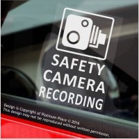 Platinum Place 5 x WARNING DASH CAM Recording-30x87mm WINDOW Stickers-Vehicle Camera Security Warning Dash Cam Signs-CCTV,Car,Van,Truck,Taxi,Mini Cab,Bus,Coach