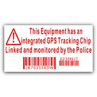 Equipment Security Stickers