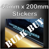 Bulk Buy - 50mm x 200mm Customised Self Adhesive Advertising Stickers for Windows or Bumper for Car,Vehicle,Van-Advertise Business,Service,Club,Company,Website,URL