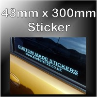 50mm x 300mm Customised Self Adhesive Advertising Stickers for Windows or Bumper for Car,Vehicle,Van-Advertise Business,Service,Club,Company,Website,URL
