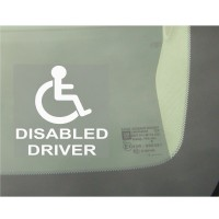 1 x Disabled Driver Window Sticker - Disability Car Wheelchair Logo Sign