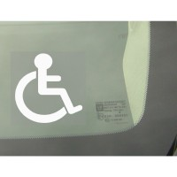 1 x Disabled Logo Window Sticker - Disability Car Wheelchair Logo Sign