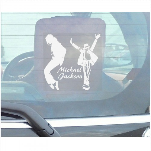 Michael jackson window sticker 87mm car van truck vehicle for Vinyl window designs complaints