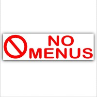 1 x No Menus Warning Sticker Sign Letterbox Notice-Keep Away Unwanted Pizza,Kebab,Chips,Chicken Leaflets,Flyers.